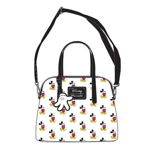 Mickey Mouse Print White Purse
