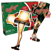 A Christmas Story 2-Sided 600-Piece Shaped Puzzle, Not Mint
