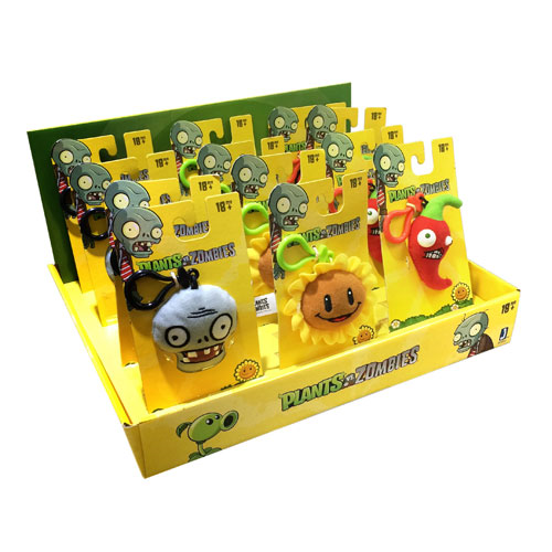 Plants vs. Zombies Mini Clip Plush Set