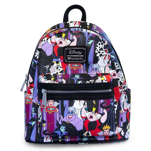 75033156809 Disney Villains Print faux-leather Mini-Backpack - Entertainment Earth