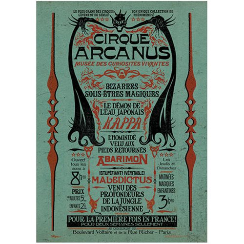 Fantastic Beasts: The Crimes Of Grindelwald Circus Arcanus MightyPrint Wall Art Print