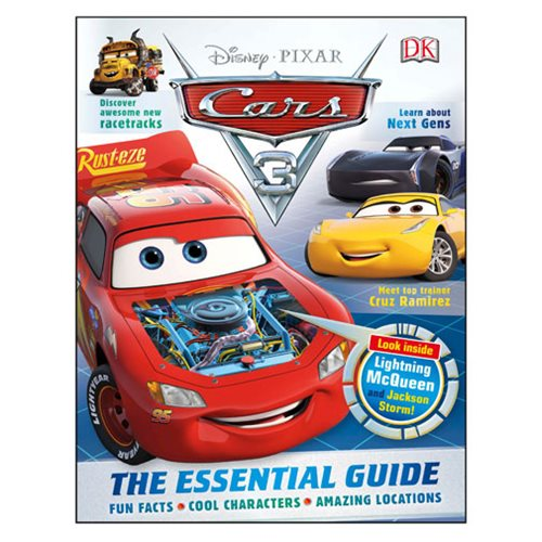 Disney Pixar Cars 3: The Essential Guide Hardcover Book