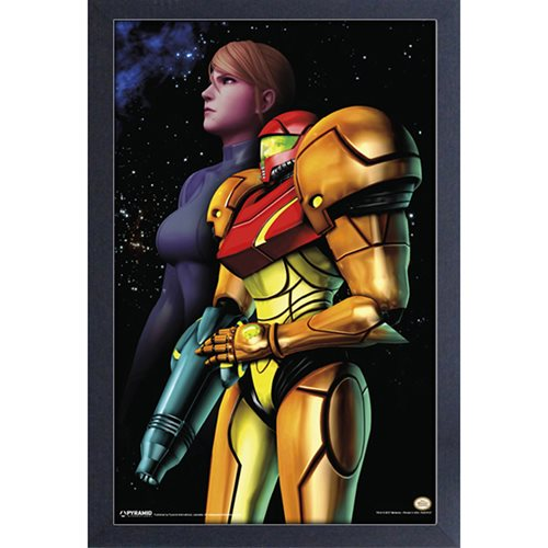 Metroid Samus Space Framed Art Print