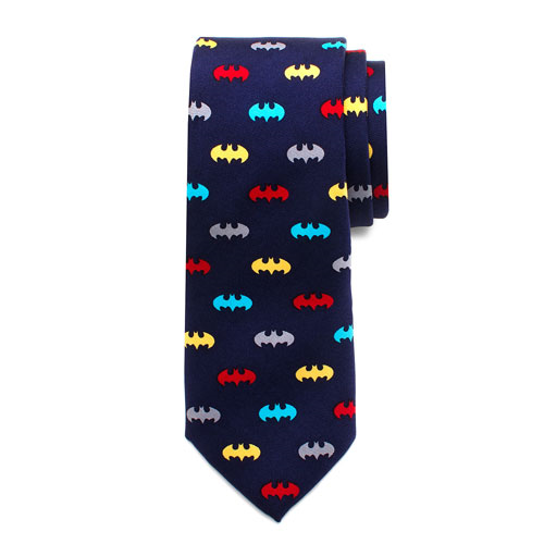 Batman Classic Multi-Color Boys Large Silk Tie
