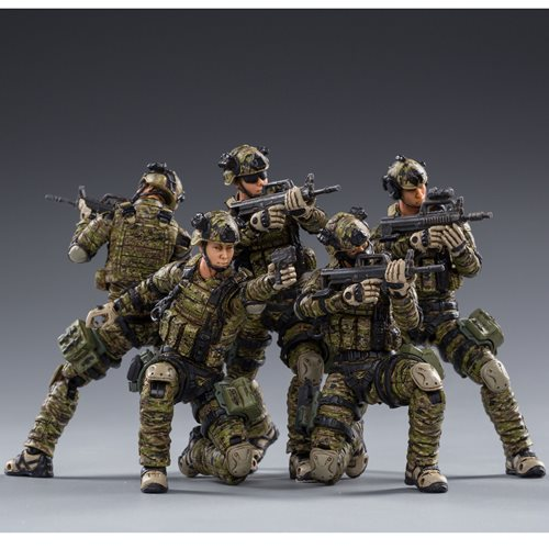 Joy Toy Pla Army Ground Force 1:18 Scale Action Figure 5-Pack