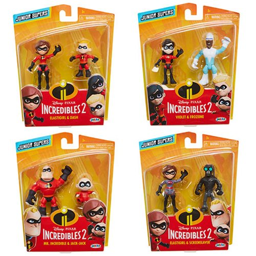 Incredibles 2 Precool 3-Inch Figures 2-Pack Case