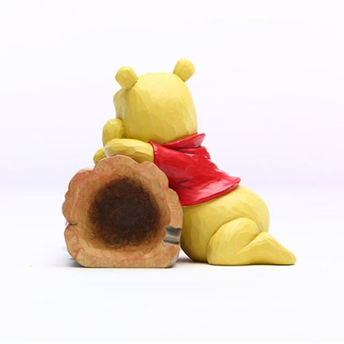 Disney Traditions Winnie the Pooh Pooh and Piglet by Log Truncated Conversation by Jim Shore Statue