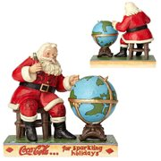 Coca-Cola Santa and Globe Jolly Journey Statue by Jim Shore