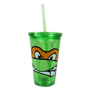 Teenage Mutant Ninja Turtles Michelangelo Face Plastic Travel Cup