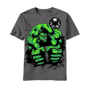 Hulk Squat Gray Youth T-Shirt