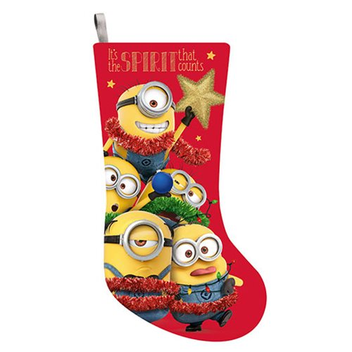 Despicable Me Minion 19-Inch Print Stocking