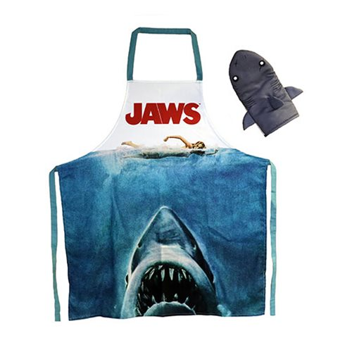 Jaws Apron and Oven Mitt Set