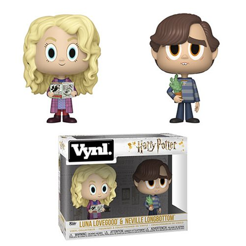 Harry Potter Luna Lovegood and Neville Longbottom Vynl Figure 2-Pack