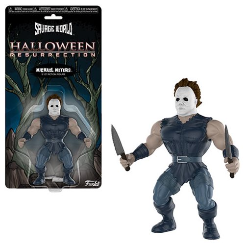 Halloween Michael Myers Savage World Action Figure, Not Mint
