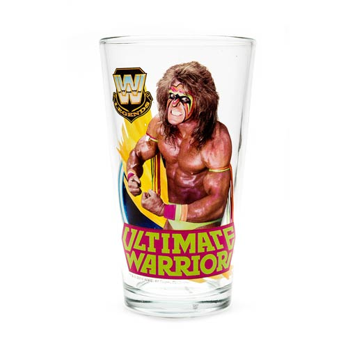 WWE Ultimate Warrior 16 oz. Pint Glass