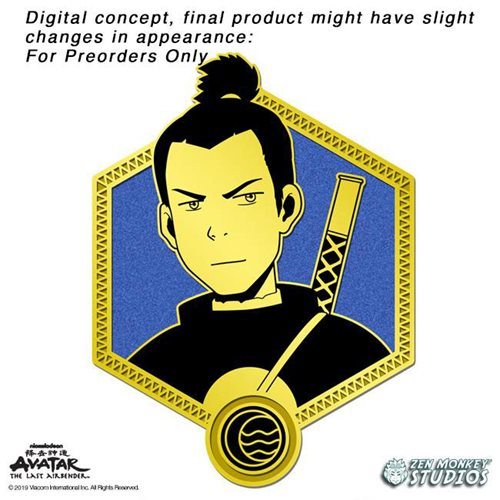 Avatar: The Last Airbender Gold Sokka Enamel Pin