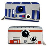 Star Wars R2-D2 and BB-8 2-Sided Big Face Zip-Around Wallet
