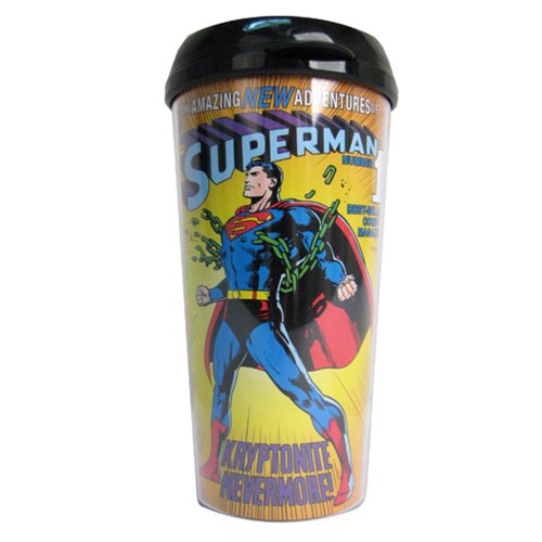 Superman Breaking Chains 16 oz. Plastic Travel Mug