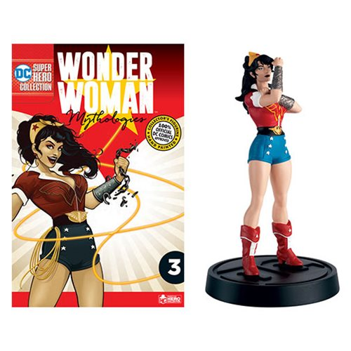 DC Wonder Woman Mythologies Bombshells Wonder Woman Statue with Collector Magazine #3