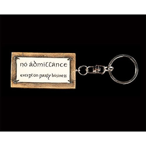 The Hobbit: An Unexpected Journey No Admittance Sign Key Ring