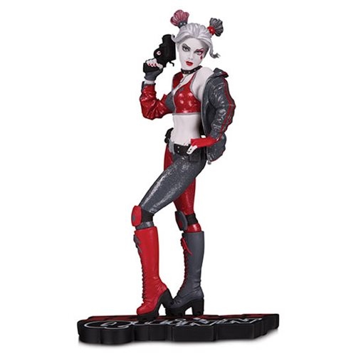 Harley Quinn Red White and Black by Joshua Middleton Statue