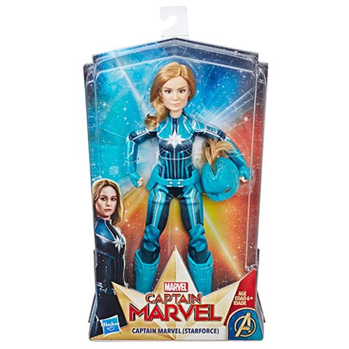 Captain Marvel Starforce Adventure Doll with Helmet