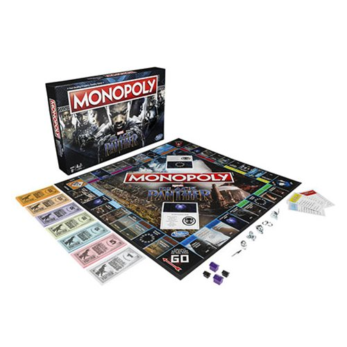 Black Panther Monopoly Game Entertainment Earth