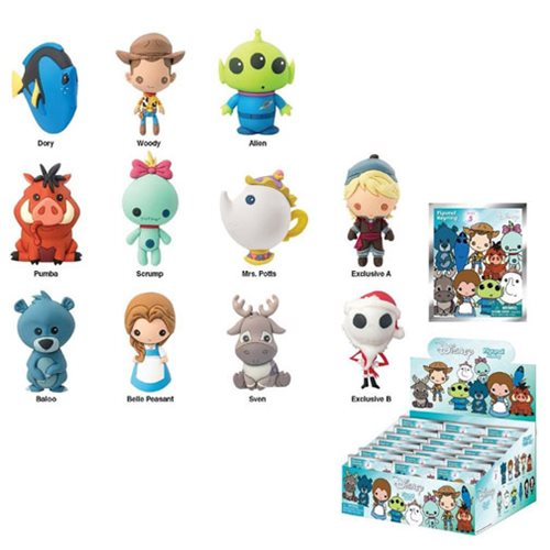 Disney Series 5 Figural 3-D Key Chain Display Box