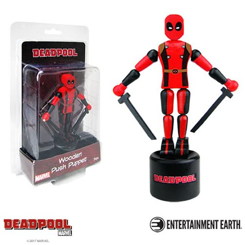Deadpool Wooden Push Puppet