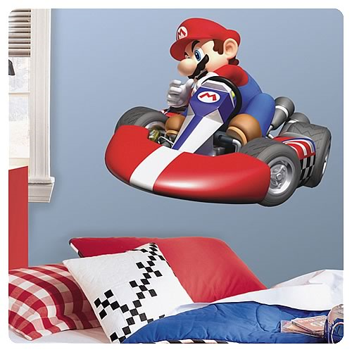 Mario Kart Wii Peel and Stick Giant Wall Decal