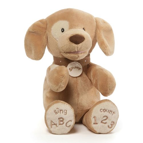 Spunky Dog Tan ABC123 Animated Plush