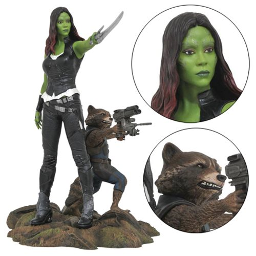 Marvel Gallery Guardians of the Galaxy Vol. 2 Gamora and Rocket Raccoon Statue