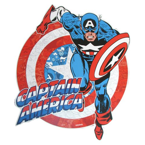 Captain America Classic Die-Cut Wood Wall Art
