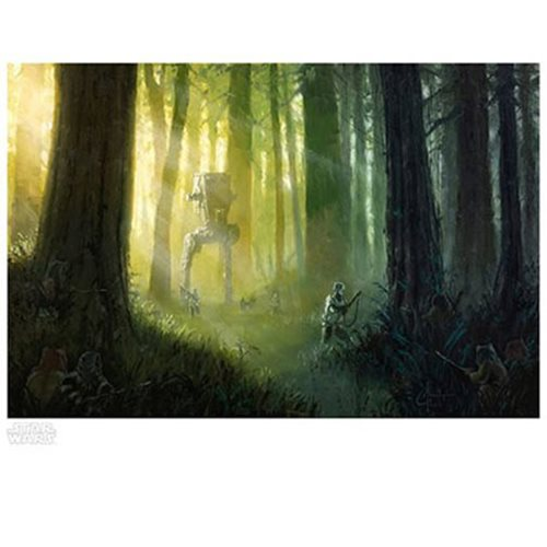 Star Wars Patrolling the Endor Moon by Christopher Clark Paper Giclee Art Print