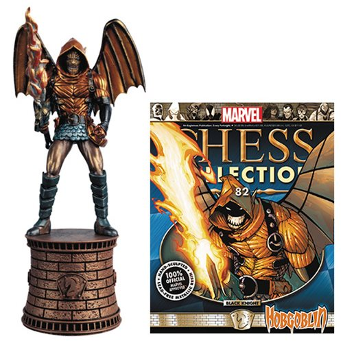 Marvel Hobgoblin Black Knight Chess Piece with Collector Magazine #82