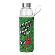 Wizard of Oz Drop a House on You 20 oz. Glass Water Bottle with Neoprene Sleeve