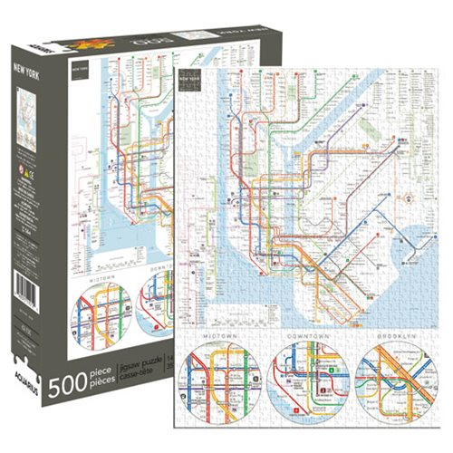 New York Subway Map 500-Piece Puzzle
