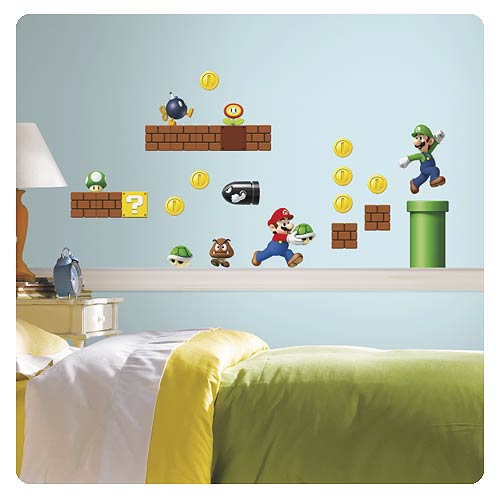 Super Mario Build-a-Scene Peel and Stick Wall Decals