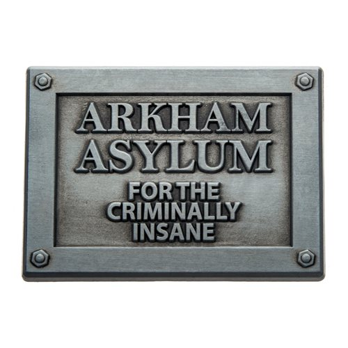 Batman Arkham Asylum Plaque Pin