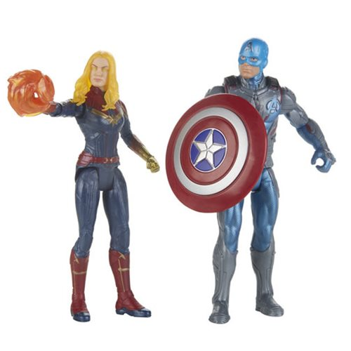 Avengers Endgame Capt Marvel & Capt America 2-Pack, Not Mint