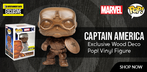 Captain America Wood Deco Pop! Vinyl Figure
