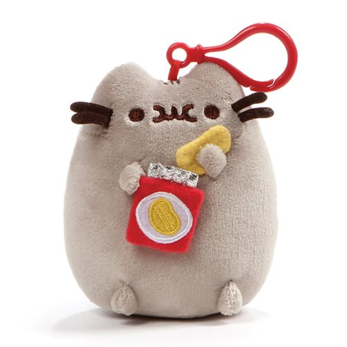 Pusheen the Cat Pusheen Snackable Potato Chip Backpack Clip-On Plush