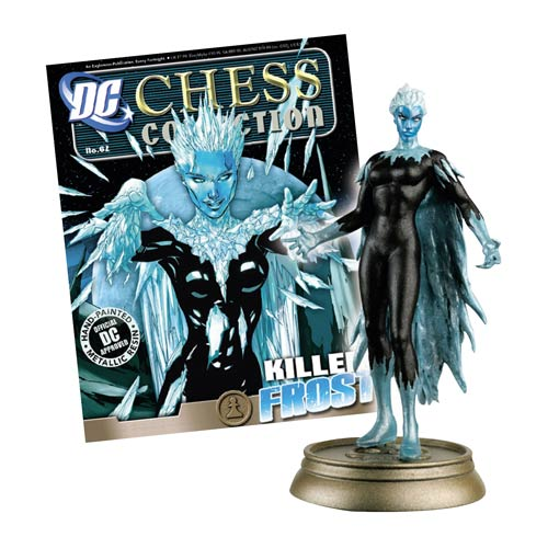 DC Superhero Killer Frost Black Pawn Chess Piece with Collector Magazine