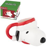 Peanuts Snoopy in Santa Hat Sculpted Ceramic Mug
