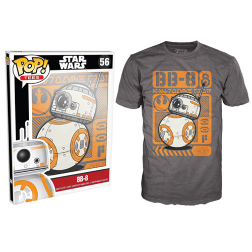 Star Wars: Episode VII - The Force Awakens BB-8 Type Poster Gray Pop! T-Shirt