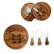 Mickey and Minnie Mouse Acacia Brie Cheese Board and Tools Set