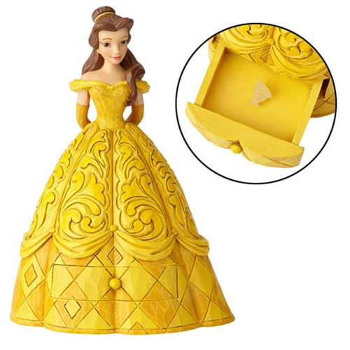 Disney Traditions Beauty and the Beast Belle with Chip Charm Statue by Jim Shore