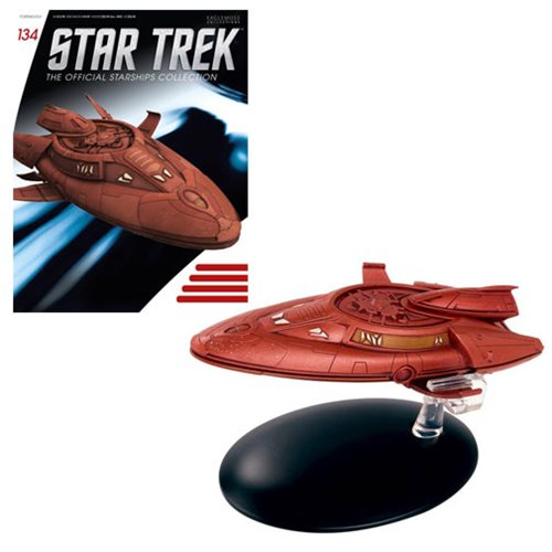 Star Trek Starships Collection Vulcan Survey Ship Die-Cast Metal Vehicle with Collector Magazine #134