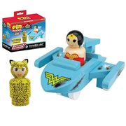 Wonder Woman Battle Damaged Invisible Jet with Wonder Woman and Cheetah Pin Mates Set - Convention Exclusive, Not Mint