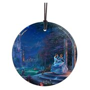 Disney Cinderella Dancing in the Starlight Thomas Kinkade StarFire Prints Hanging Glass Ornament